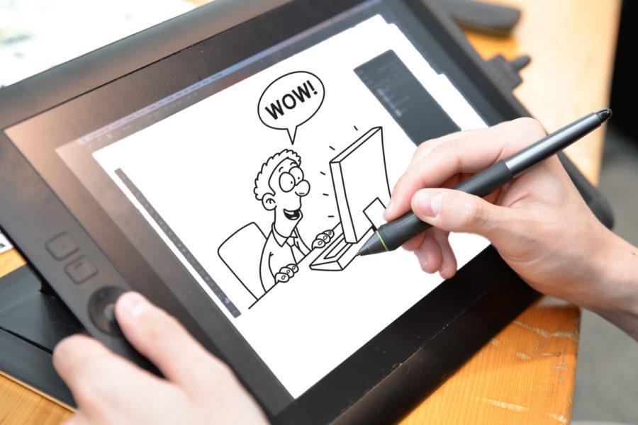 Tvorba kresleného videa - grafický tablet